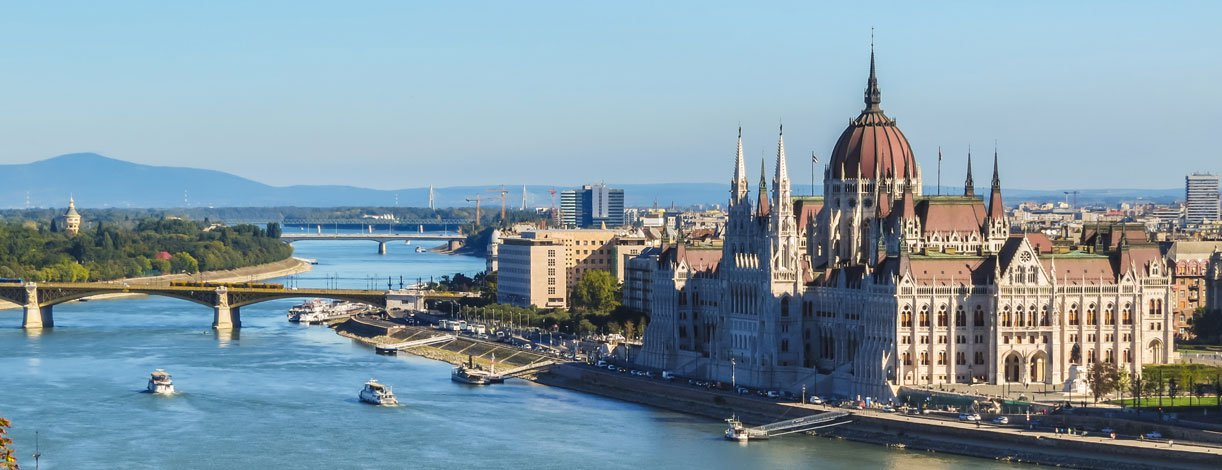 View of Danube River and Parliament Building, Budapest