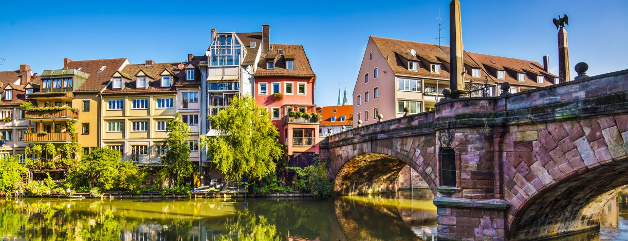 Nuremberg, old town on the Pegnitz River