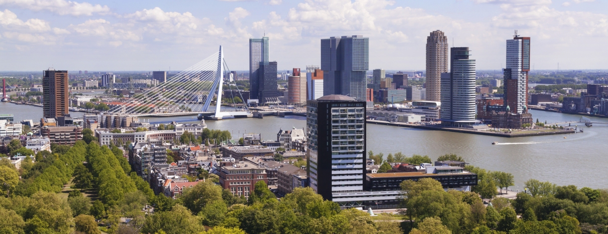 Rotterdam, Netherlands city skyline