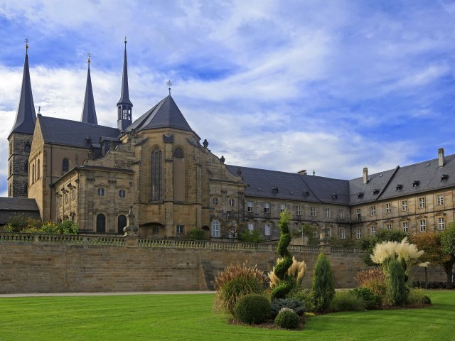 Kloster Michelsberg, catherdral and garden in Bamburg