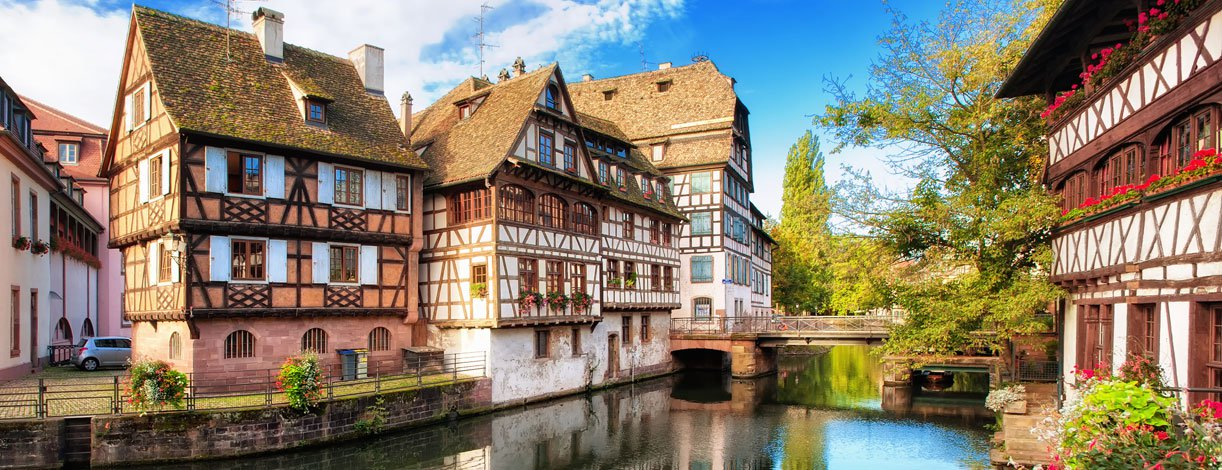 Traditional half-timbered houses in La Petite, France