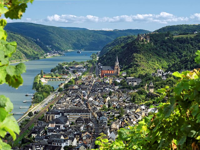 Oberwesel from above, Germany