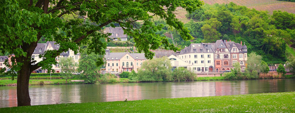 Moselle River and Bernkastel Village, Germany