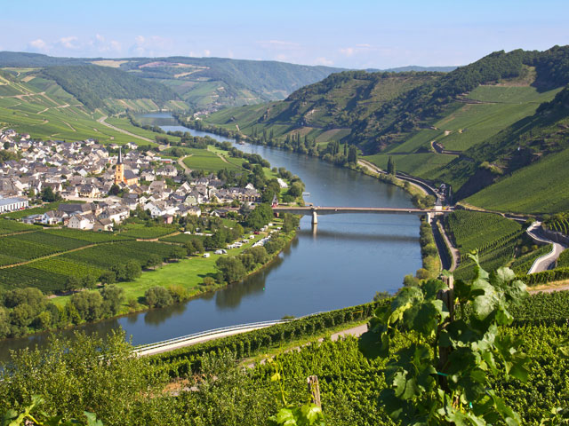River Moselle on a sunny day
