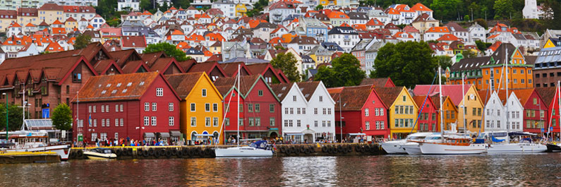 Bergen coloured houses
