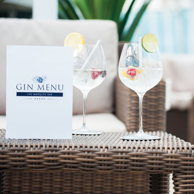Marquee Bar - Gin Menu