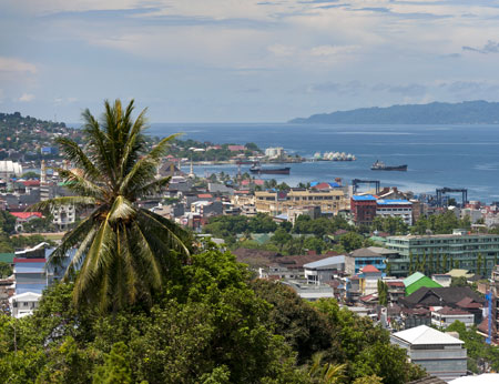 View over Ambon, Indonesia