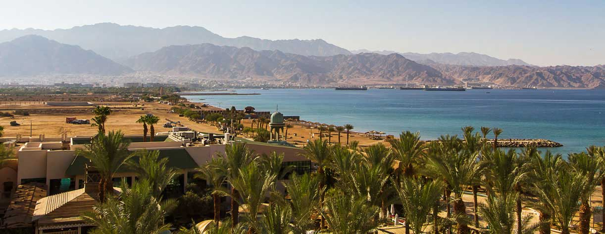 Desert and mountains in Aqaba, Jordan