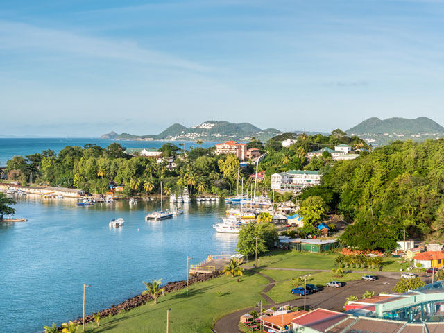 Beautiful view of the Castries, St Lucia