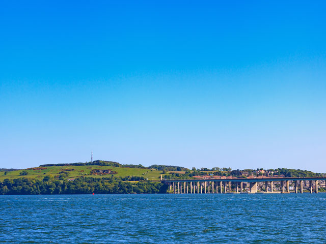 Tay Road Bridge in Dundee, Scotland