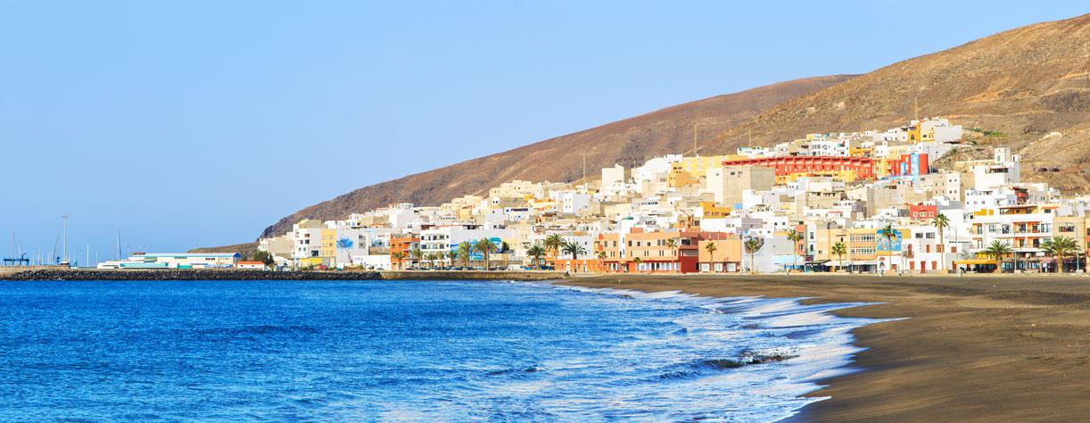 Houses by the sea in Gran Tarajal, Fuerteventura