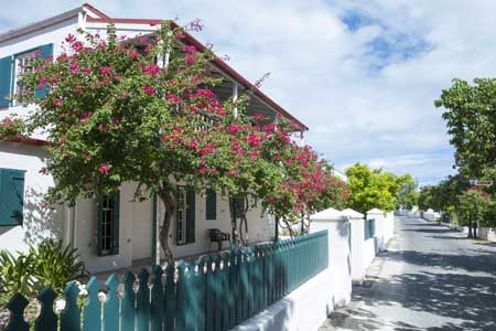 Traditional house in Cockburn Town, Grand Turk