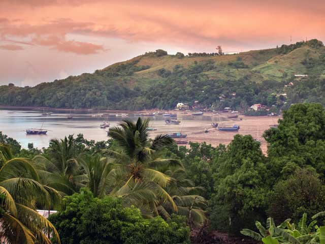 Early morning view over Nosy Be, Northern Madagascar