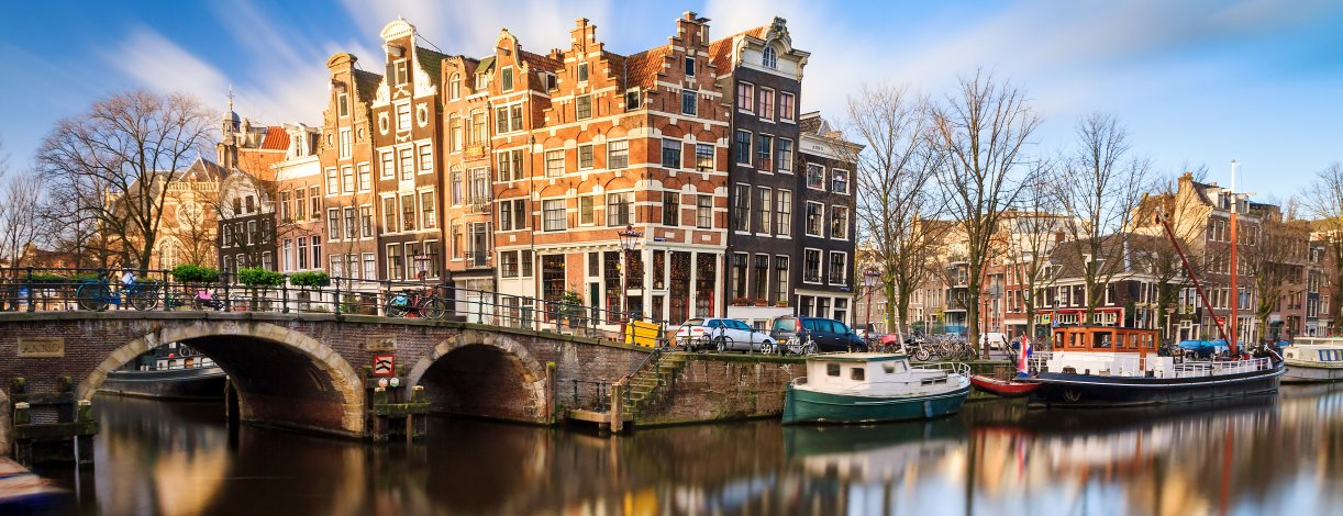 Beautiful view of the Princes Canal, Amsterdam, Netherlands