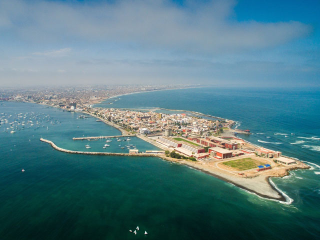 Ariel view of La Punta, Callao