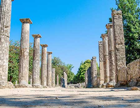 Ruins of ancient Olympia, Greece