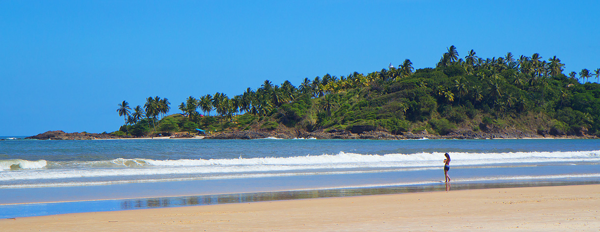 Beautiful beach view in Ilheus, brazil