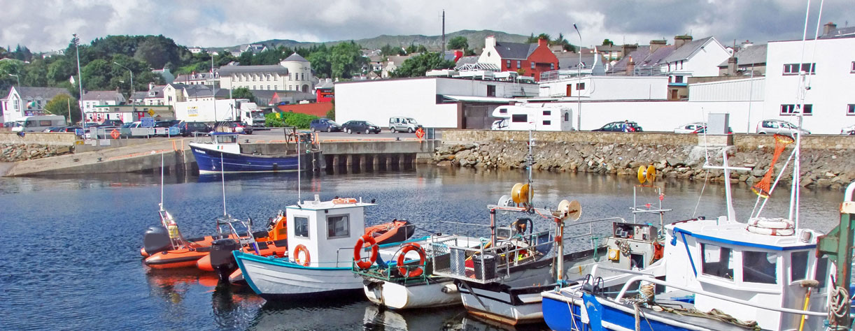 Boats in the marina of Killybegs, Ireland
