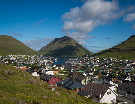 View over Klasvik, Faroe Islands