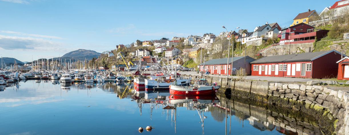View of harbour in Kristiansund, Norway