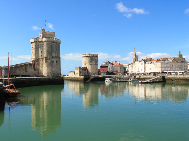 Beautiful view of La Rochelle Harbour, France