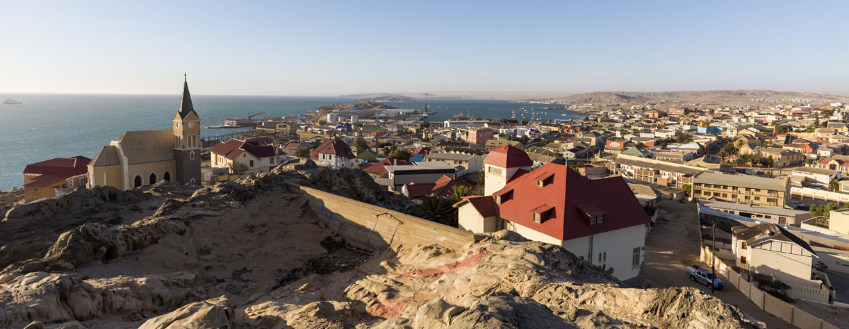 Panoramic view of Luderitz town, Nambia