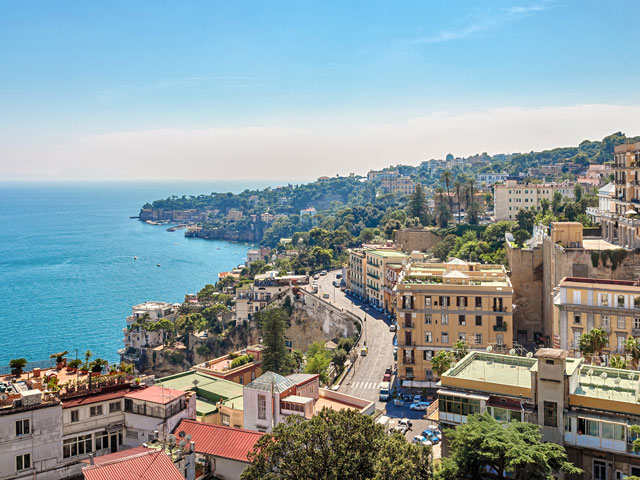 The beautiful coast of Naples, Italy