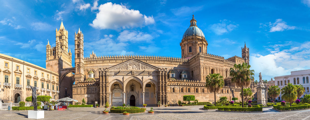 Beautiful architecture of Palermo, Sicily