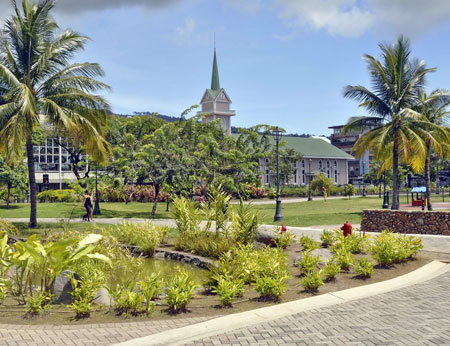 Beautiful park in Papeete, French Polynesia