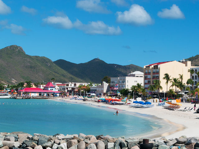 Philipsburg harbour in St Maarten