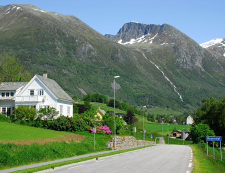 Picturesque view of Rosenal in Norway