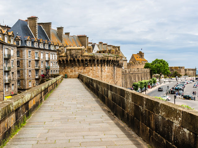 View of ancient city Saint-Malo. France