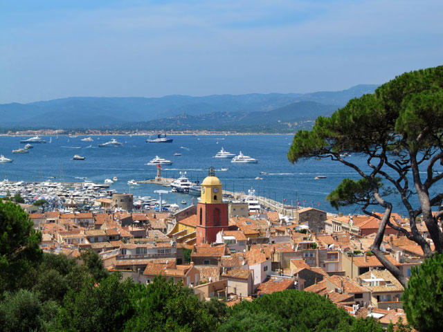 Panorama of Saint Tropez France Beautiful View from The Citadel
