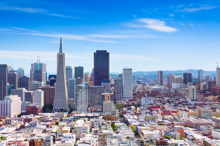 General view of downtown San Francisco