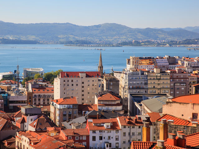 View of Santander city, Spain