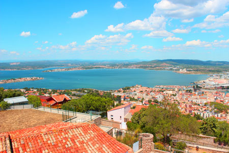 View of Sete from Mont St Clair, France