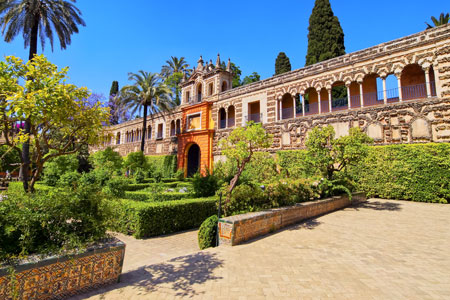 Gardens in Realse Alcazores in Seville