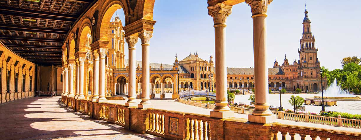 Plaza de Espana in Seville Andalusia Spain