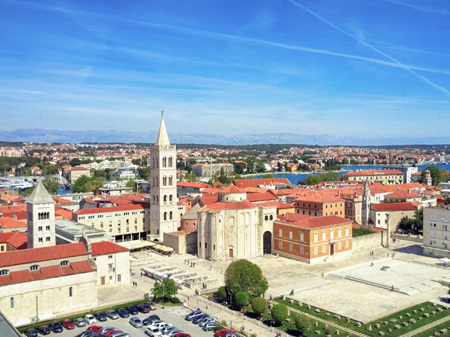 Ariel view of Zadar coastline