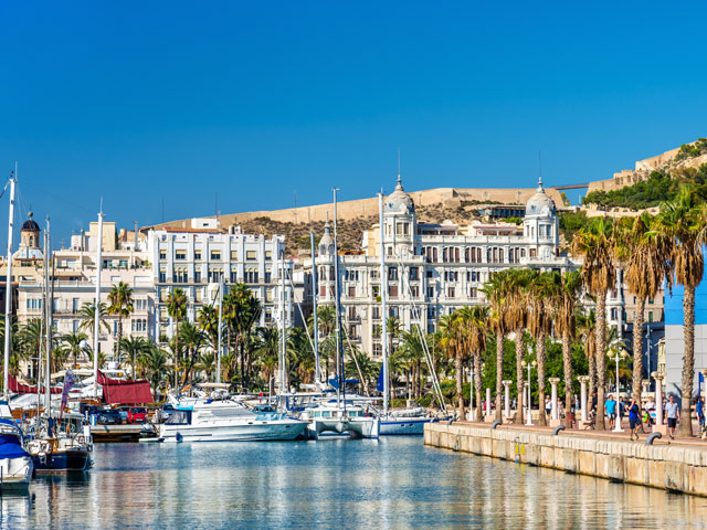 Promenade in the Marina of Alicante  Spain