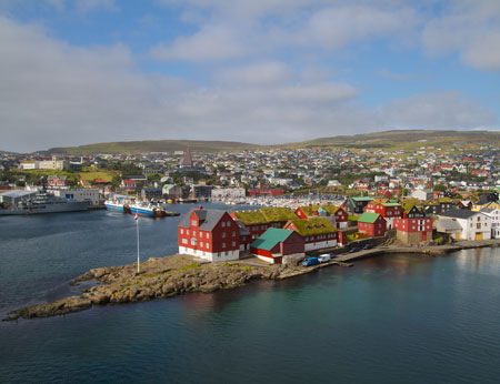 View of Torshavn, Faeroe Islands