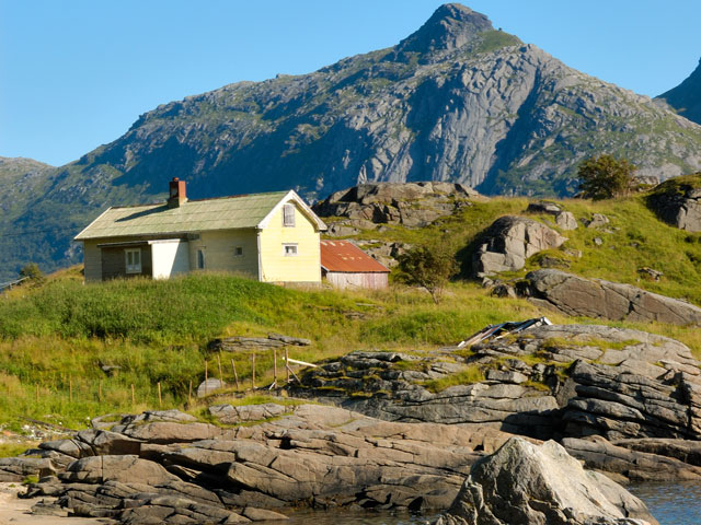 Sortland at Steinsfjord on Vestvagoy, Norway