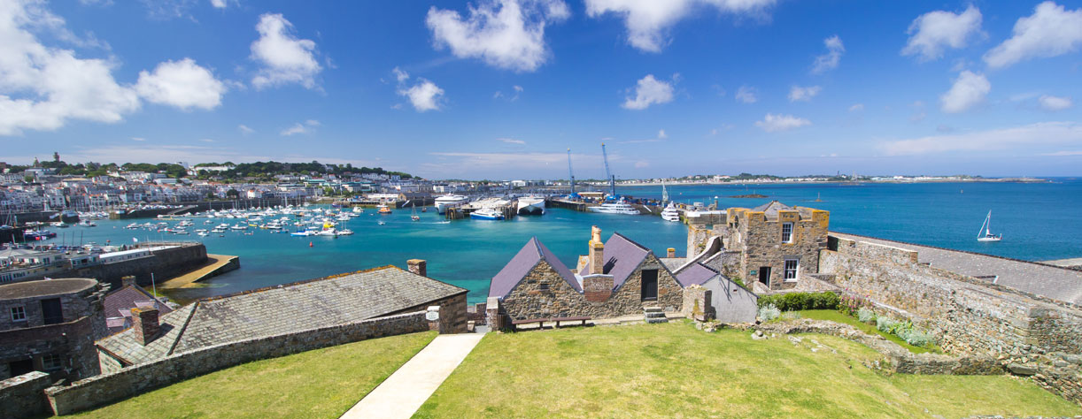 Guernsey harbour seen from Castle Cornet