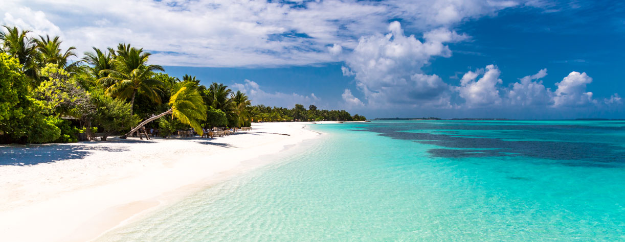 Beautiful beach in the Maldives