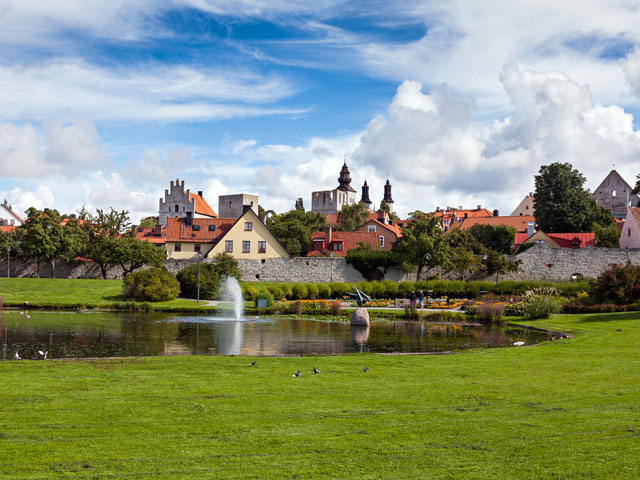 Visby the main city on the picturesque island Gotland Sweden