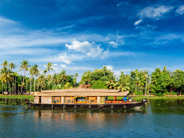 Houseboat on Kerala backwaters Kerala India s