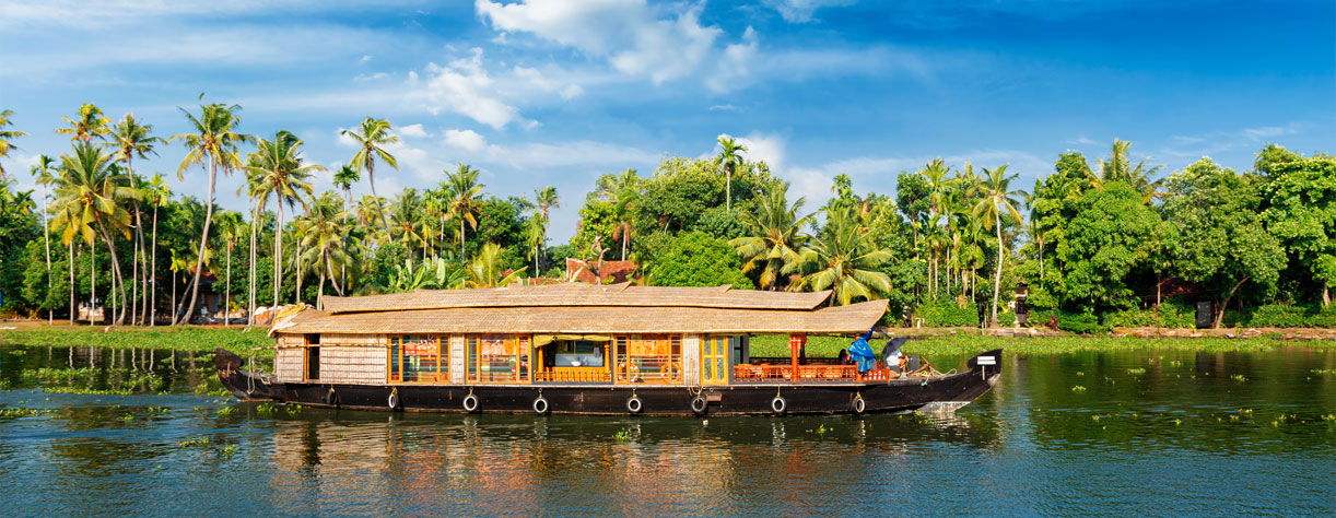 Houseboat on Kerala backwaters Kerala India