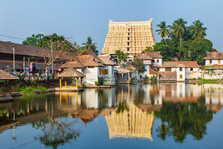 Shree Padmanabhaswamy Temple in Thiruvananthapuram , Kerala, India