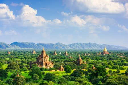 Ancient city of Bagan in Myanmar