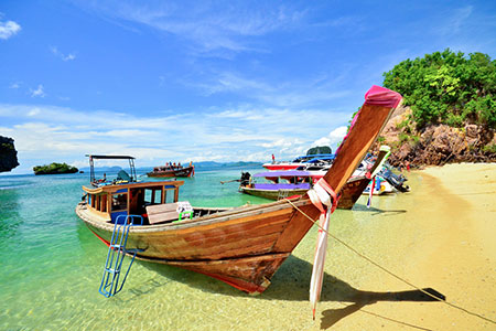 Long tailed boat in Phuket, Thailand